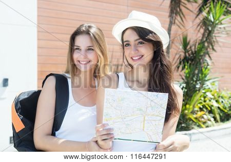 Two Caucasian Tourists In The City