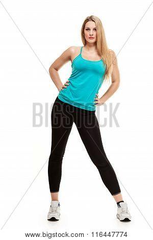 Aerobics fitness woman posing