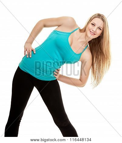 woman fitness portrait. exercise