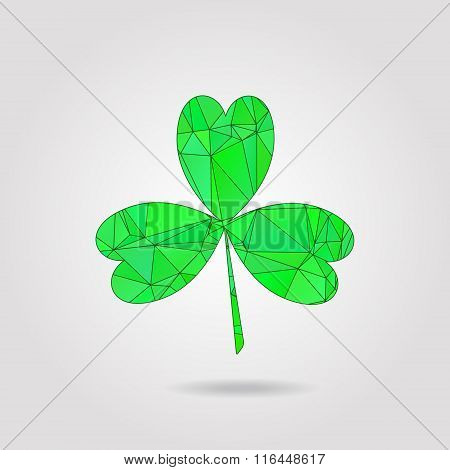 Clover leaf low poly style