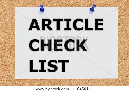 Article Check List Concept