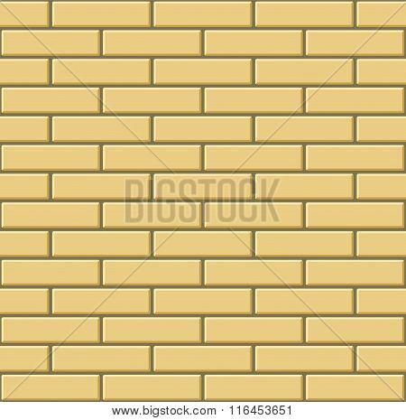 Seamless Pattern of Yellow Bricks Wall. Vector