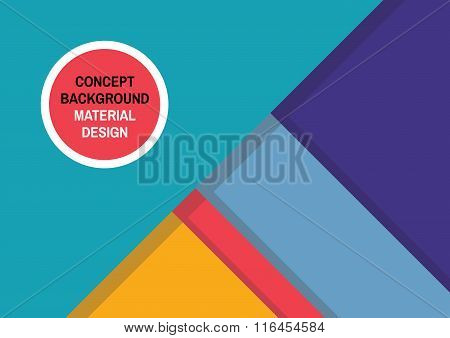 Geometric abstract background in material design style. Abstract vector background in trend style.