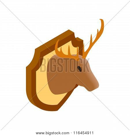 Deer head isometric 3d icon