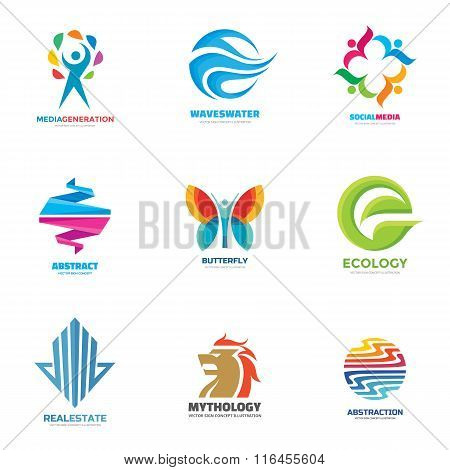 Logo vector set - creative illustrations. Logo collection. Vector logo design.