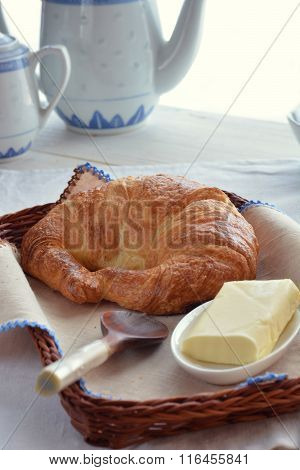 Table With Croissants With