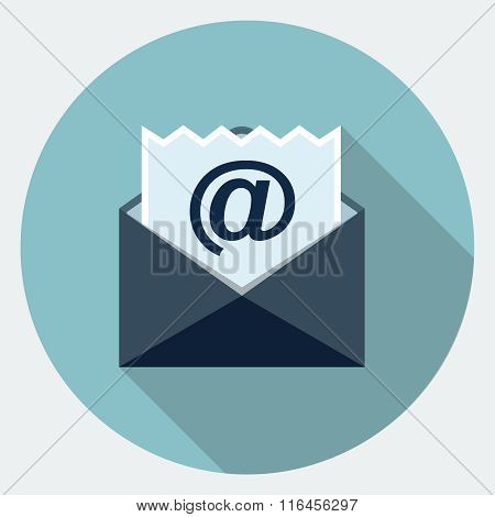 Vector email flat icon