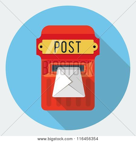 Vector postbox flat icon