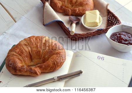Croissants Acompanied By Marmalade