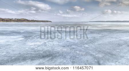 Kaunas Lagoon In Winter