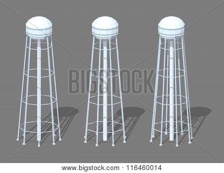 White tall water tower
