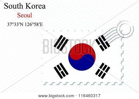 South Korea Stamp Design