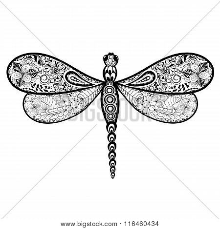 Dragonfly Doodle Illustration