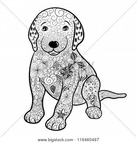 Puppy Doodle Illustration