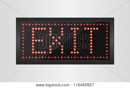 Led lights exit sign