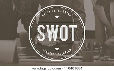 SWOT Strengths Weaknesses Opportunities Threats Concept