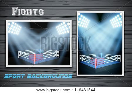 Set Backgrounds of fighting prize