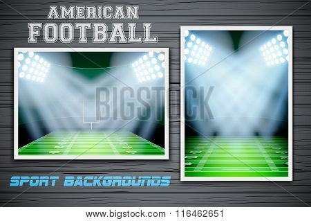 Set Backgrounds of US Football stadium