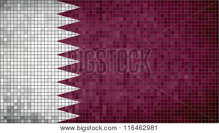 Flag Of Qatar.eps