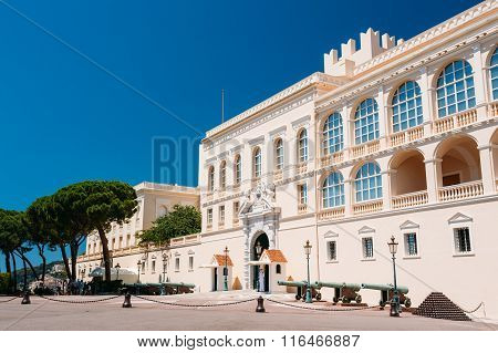 Royal palace, residence of Prince of Monaco