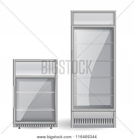 Fridge Drink. Glass Door.
