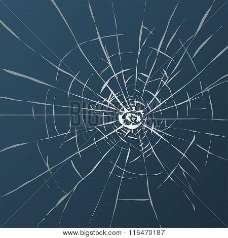 Broken glass illustration, fully editable vector