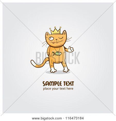 King Cat Logo.