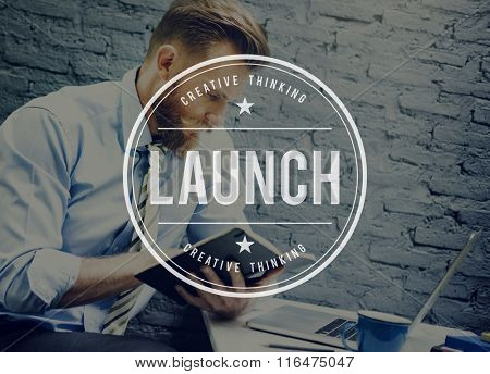 Launch Start up Creative Launching Concept