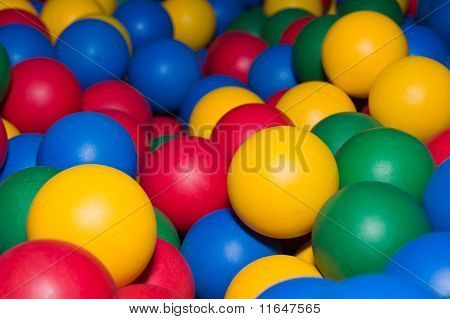 Colored Balls In Child Game Center