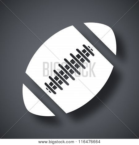 Vector American Football Ball Icon