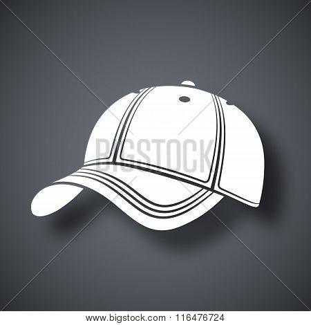 Vector Baseball Cap Icon