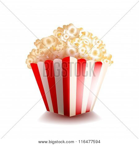 Popcorn Isolated On White Vector