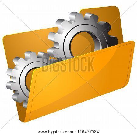 Settings folder vector illustration