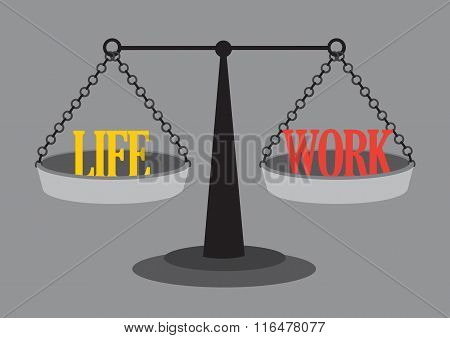 Work Life Balance Vector Illustration