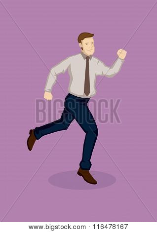 Running Man Cartoon Vector Illustration