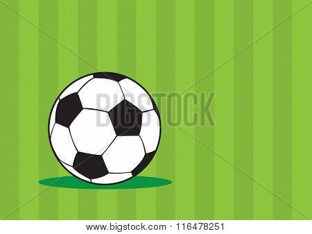 Soccer Ball Green Vector Background Design