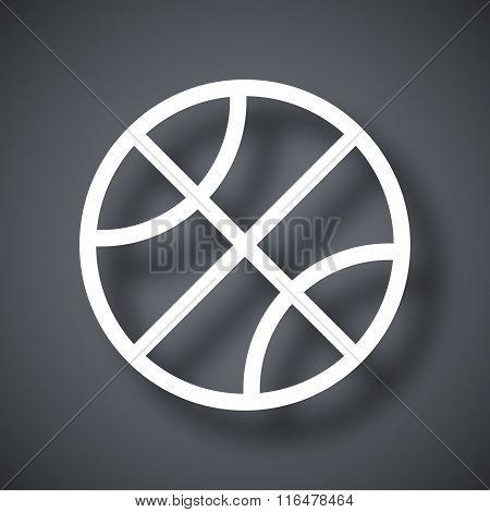 Vector Basketball Ball Icon
