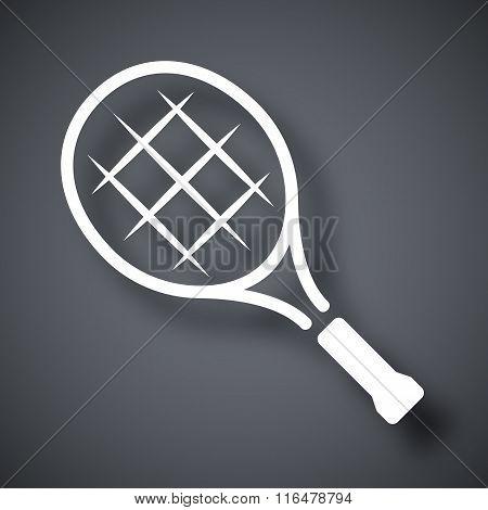 Vector Tennis Racket Icon