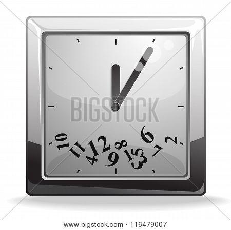 Square clock vector illustration