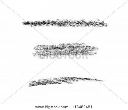 Various Pencil Strokes On White Background