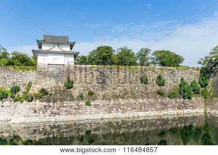 Moat with a Turret in osaka castle