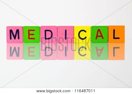 Medical - An Inscription From Children's Blocks