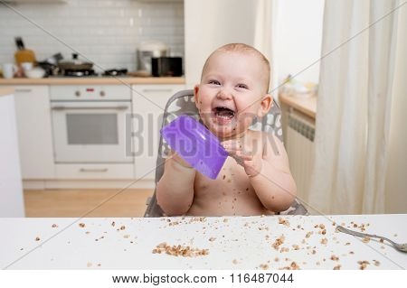Little Baby Eating