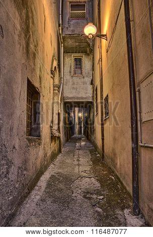 Old Alley In Guardiagrele, Abruzzo, Italy