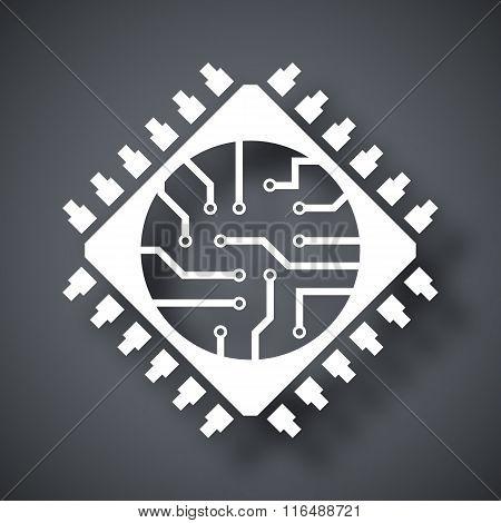 Microchip Icon, Vector