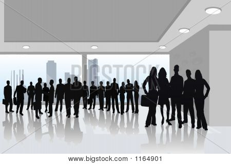 Mebel_02  Business People -  Silhouette Illustration