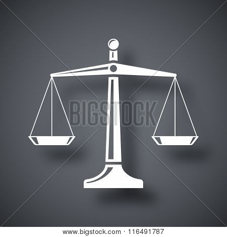 Vector Scales Of Justice Icon