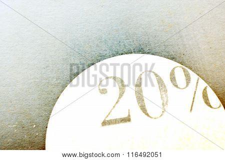 Sale Sign - 20 Percent On Vintage Ancient Background