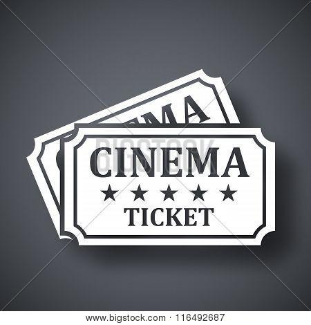 Vector Cinema Tickets Icon