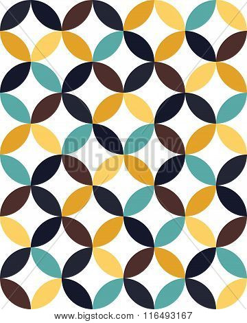 Vector modern seamless colorful geometry overlapping circles pattern color abstract